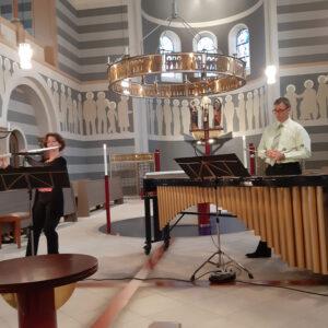 duo mélange (Leipzig): Almut Unger – Flöte / Thomas Laukel – Marimba